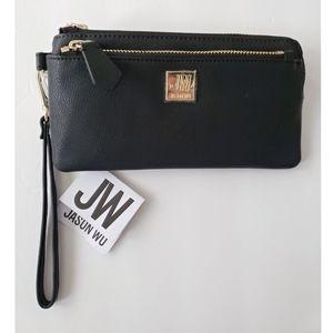 Jason Wu Double Zip Black Wallet